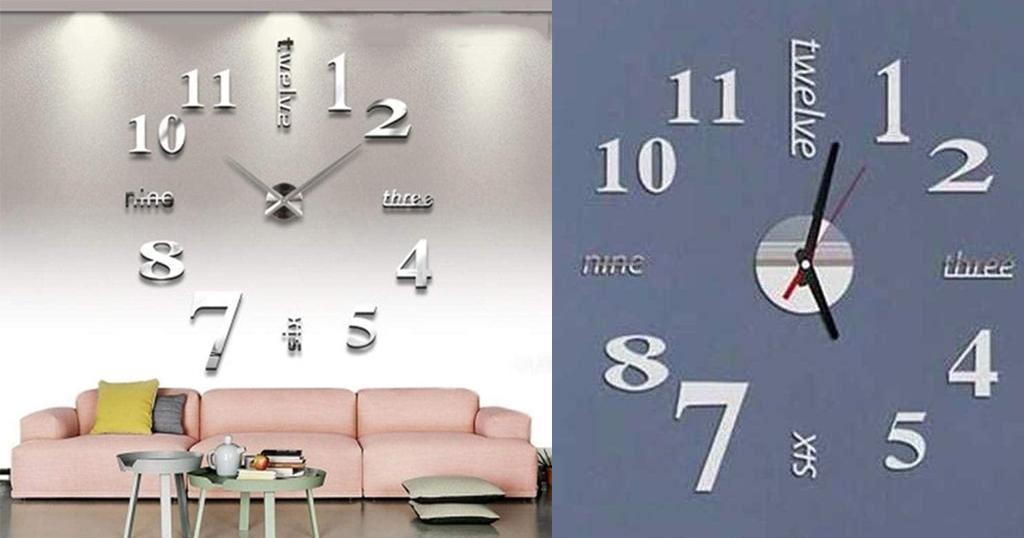 Quartz Wall Clock Sticker Only $5.99 Shipped on Amazon (Regularly $19.96)