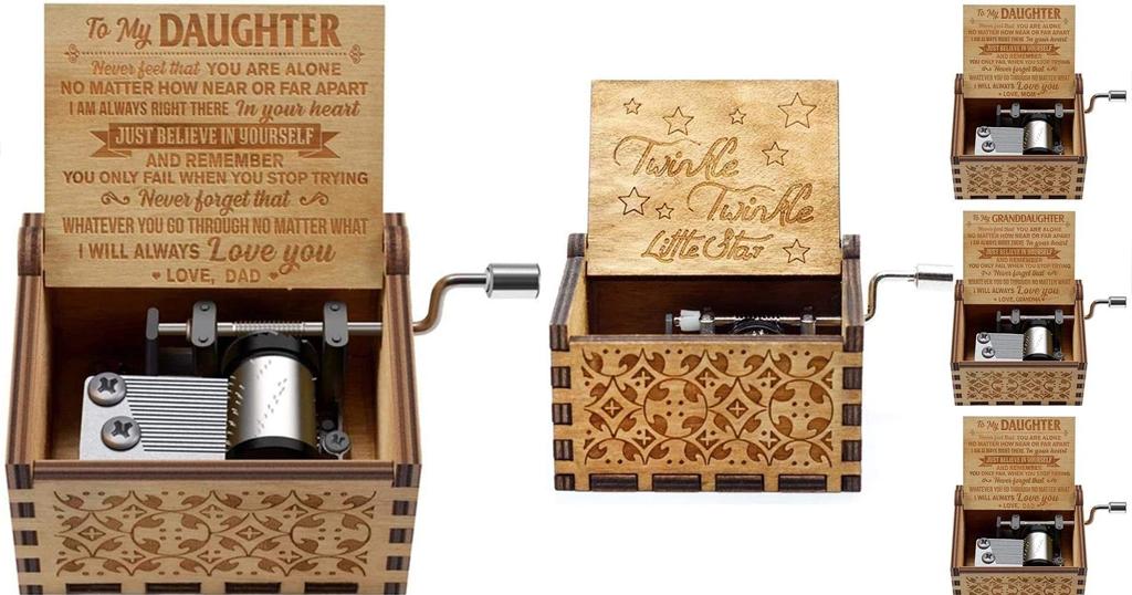 Wooden Crank Music Box Only $6.99 Shipped on Amazon (Regularly $34.99)