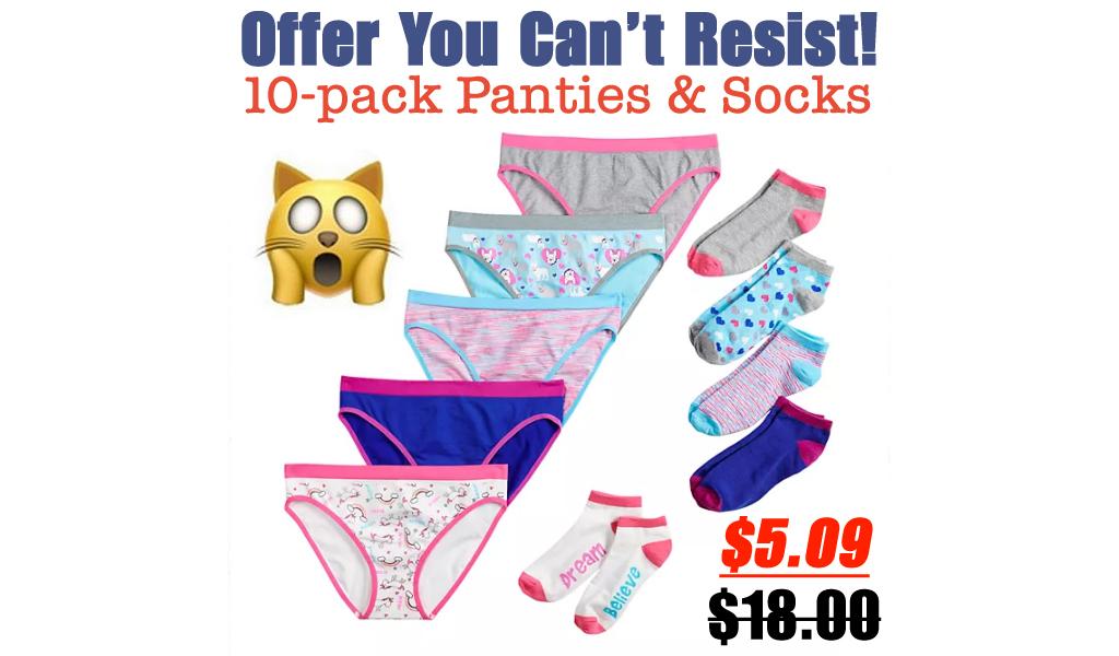 10-pack Seamless Bikini Panties & Matching Socks Only $5.09 on Kohls.com (Regularly $18.00)