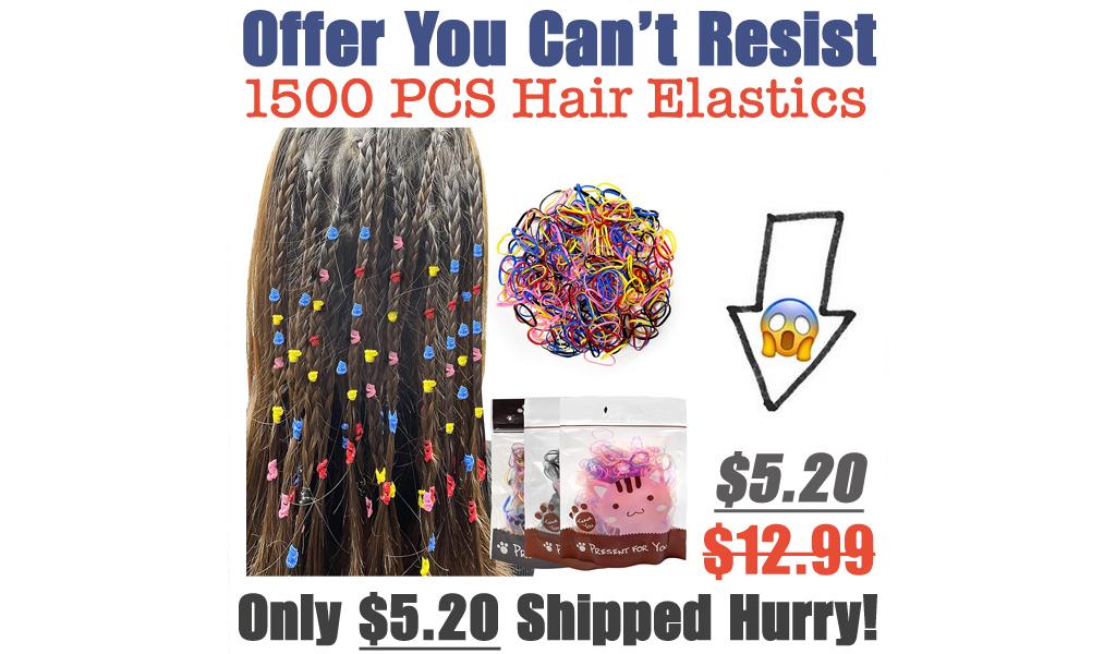 1500 PCS Hair Elastics Only $5.20 Shipped on Amazon (Regularly $12.99)