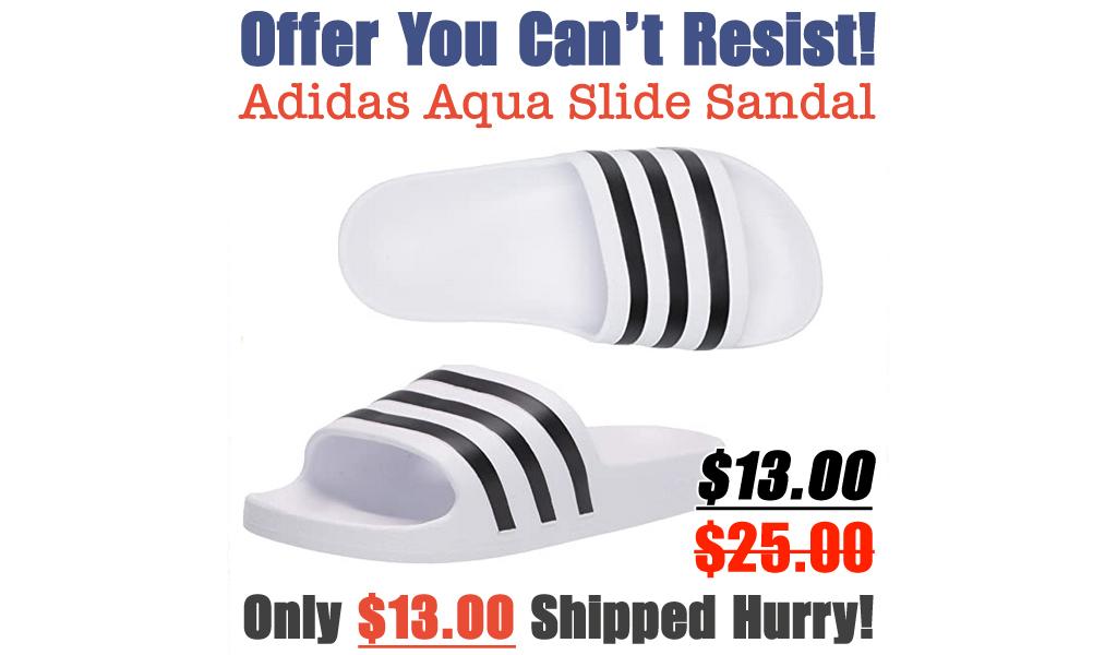 Adidas Aqua Slide Sandal Only $13.00 Shipped on Amazon (Regularly $25.00)