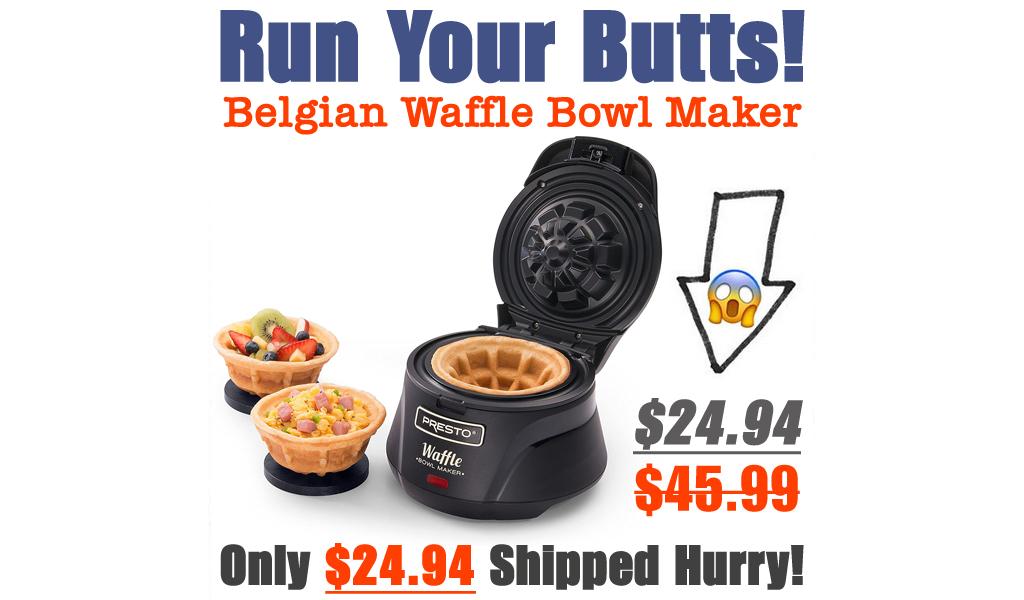 Belgian Waffle Bowl Maker Just $24.94 Shipped on Amazon (Regularly $45.99)