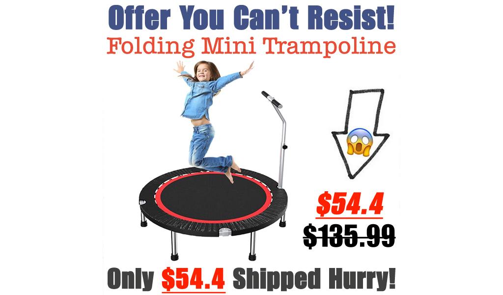 Folding Mini Trampoline Only $54.4 Shipped on Amazon (Regularly $135.99)