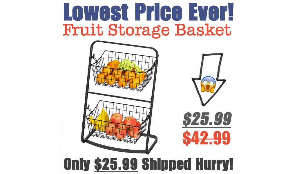 Fruit Storage Basket Only $25.99 Shipped on Amazon (Regularly $42.99)