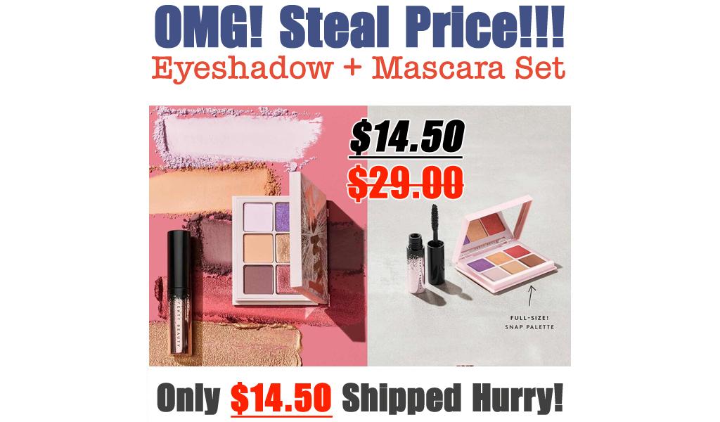 Full Snap Eyeshadow + Mini Mascara Set Only $14.50 on FentyBeauty (Regularly $29.00)