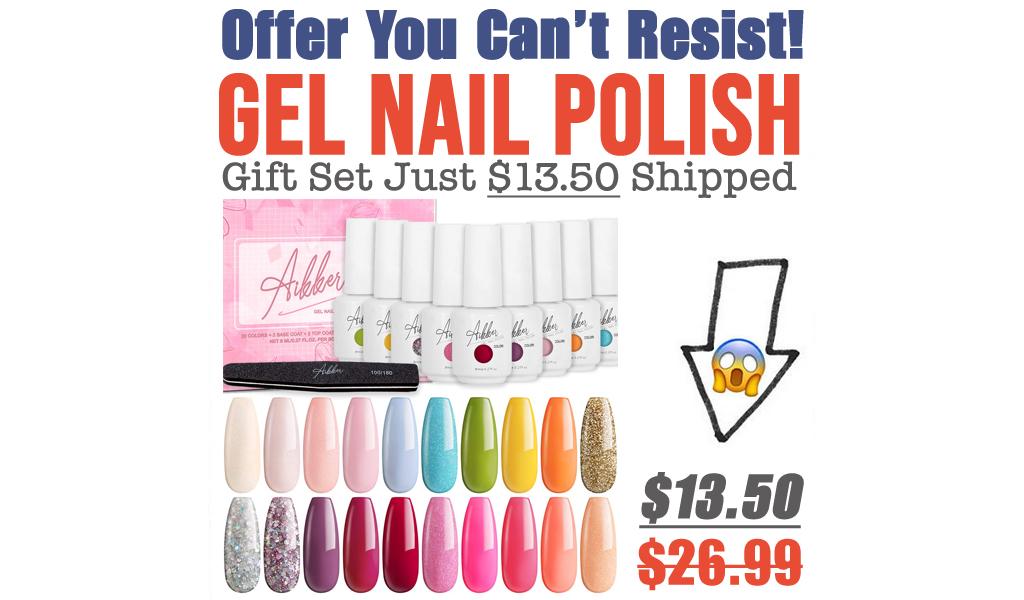 Gel Nail Polish Gift Set Just $13.50 Shipped on Amazon (Regularly $26.99)