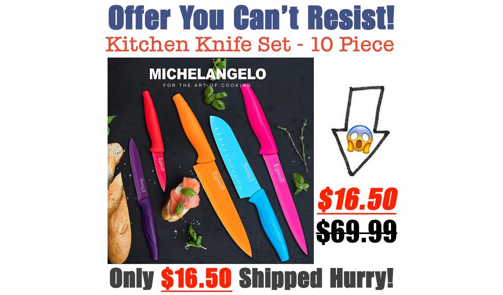 Kitchen Knife Set - 10 Piece Only $16.50 Shipped on Amazon (Regularly $69.99)