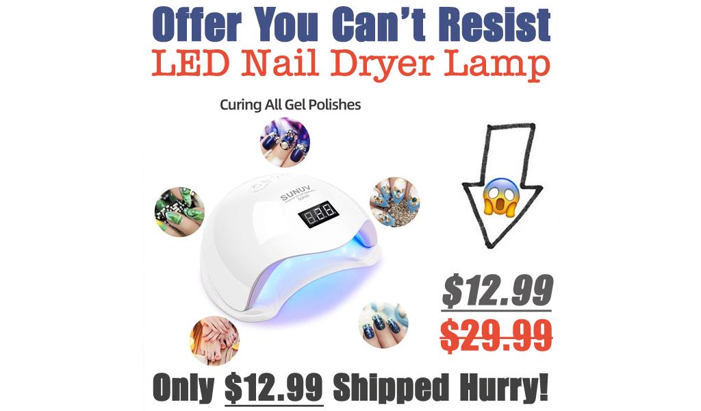 LED Nail Dryer Lamp Just $12.99 Shipped on Amazon (Regularly $29.99)