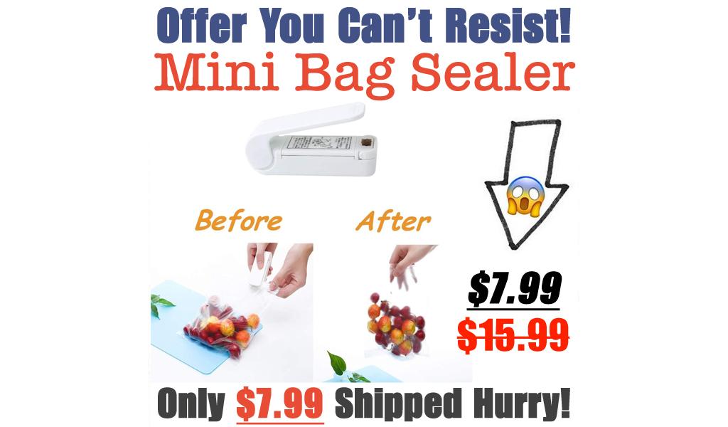 Mini Bag Sealer Only $7.99 Shipped on Amazon (Regularly $15.99)