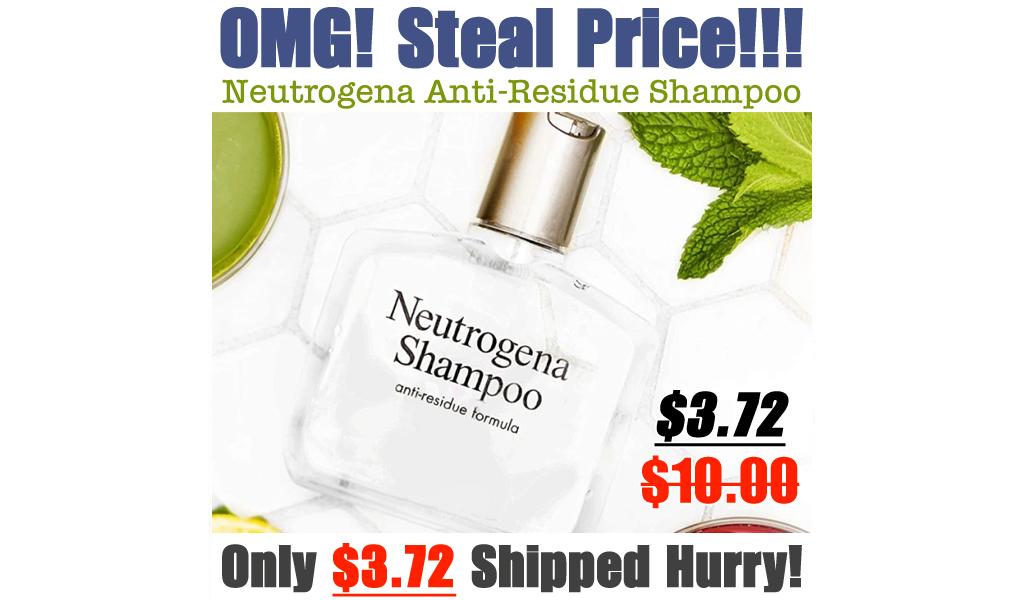 Neutrogena Anti-Residue Shampoo Just $3.72 Shipped on Amazon (Regularly $10)