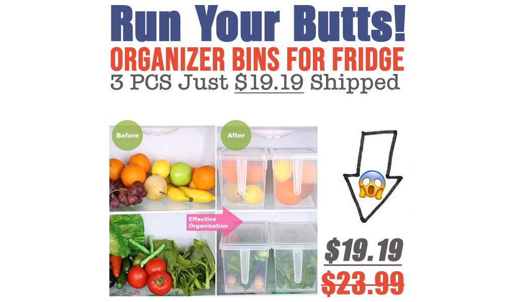 Organizer Bins for Fridge - 3 PCS Just $19.19 Shipped on Amazon (Regularly $23.99)