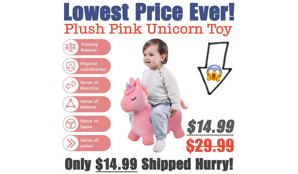 Plush Pink Unicorn Toy Just $14.99 Shipped on Amazon (Regularly $29.99)