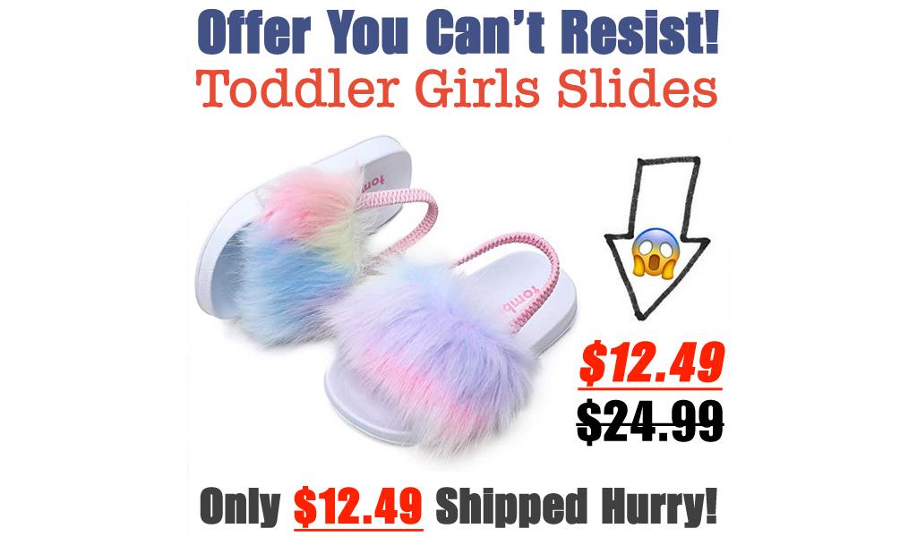 Toddler Girls Slides Only $12.49 Shipped on Amazon (Regularly $24.99)
