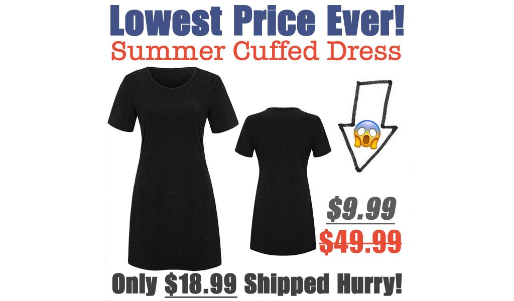 Women's Summer Cuffed Dress Just $9.99 Shipped on Amazon (Regularly $49.99)