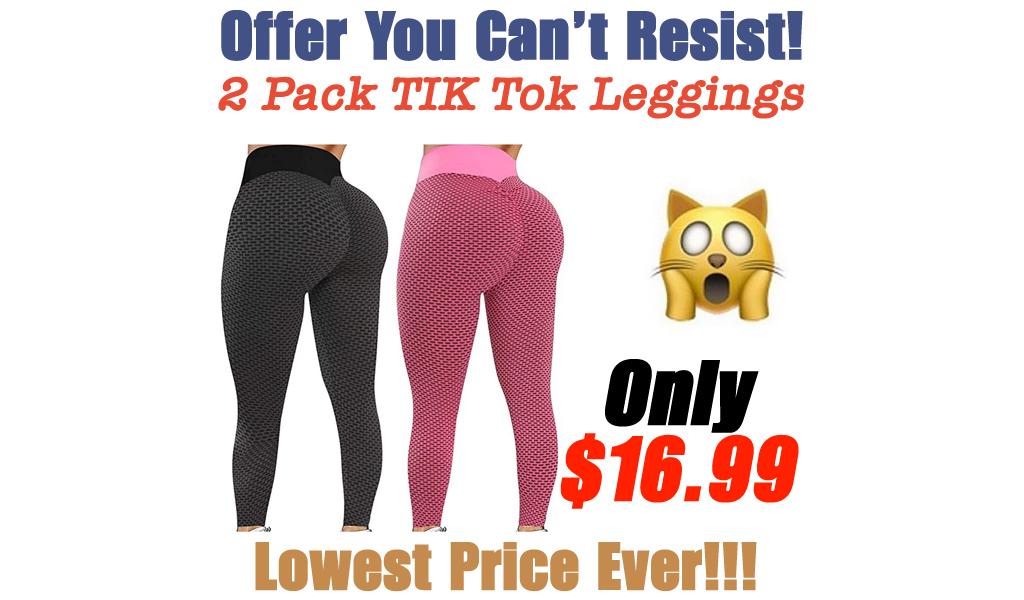2 Pack TIK Tok Leggings Only $16.99 Shipped on Amazon