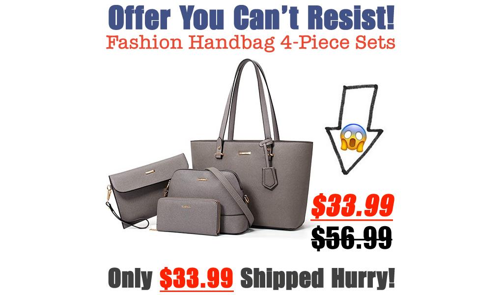 Fashion Handbag 4-Piece Sets Only $33.99 Shipped on Amazon (Regularly $56.99)