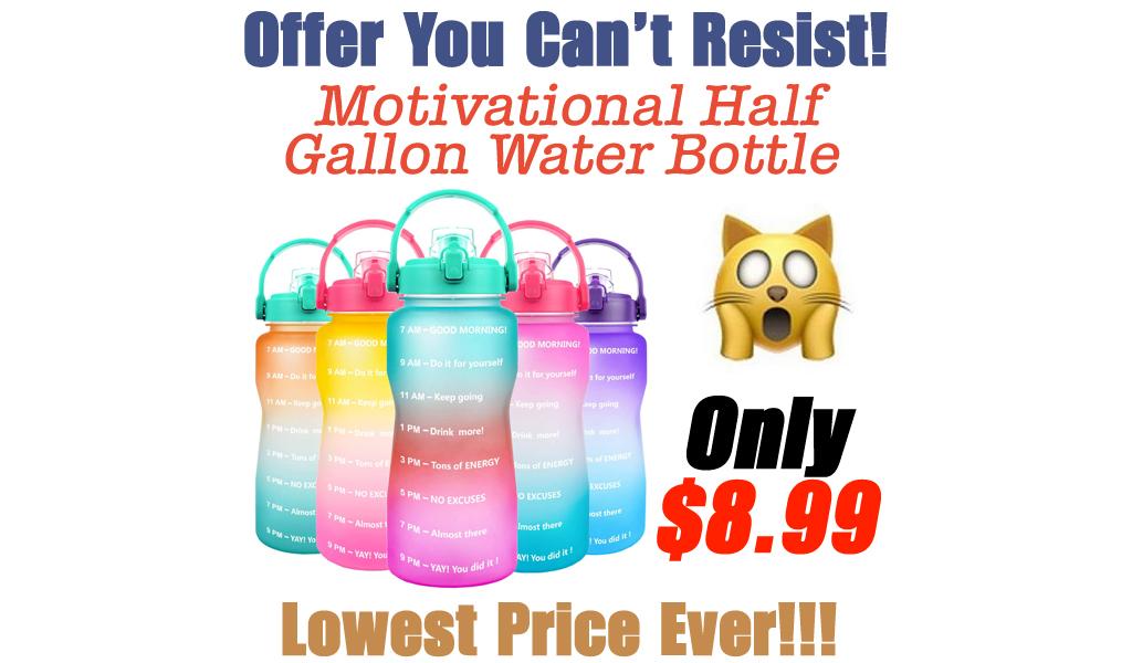 Motivational Half Gallon Water Bottle Only $8.99 Shipped on Amazon (Regularly $17.99)