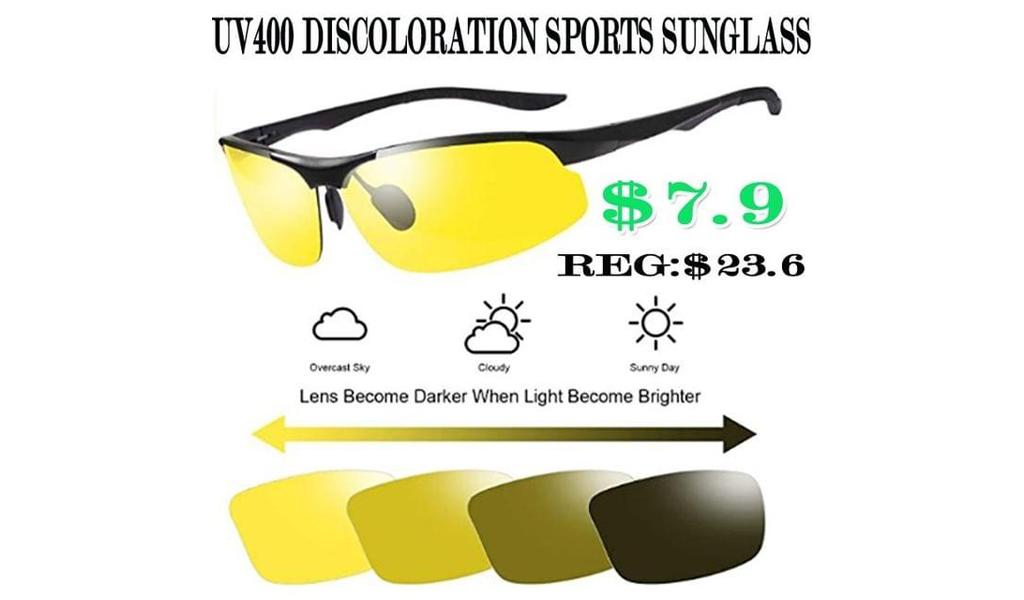 UV400 Discoloration SPORTS SUNGlass +Free Shipping!