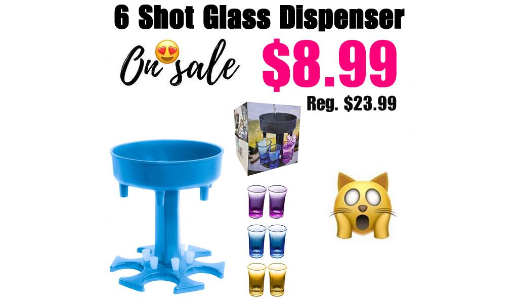 6 Shot Glass Dispenser Only $8.99 Shipped on Amazon (Regularly $23.99)