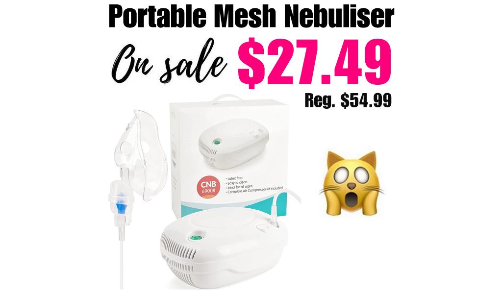 Portable Mesh Nebuliser Only $27.49 Shipped on Amazon (Regularly $54.99)