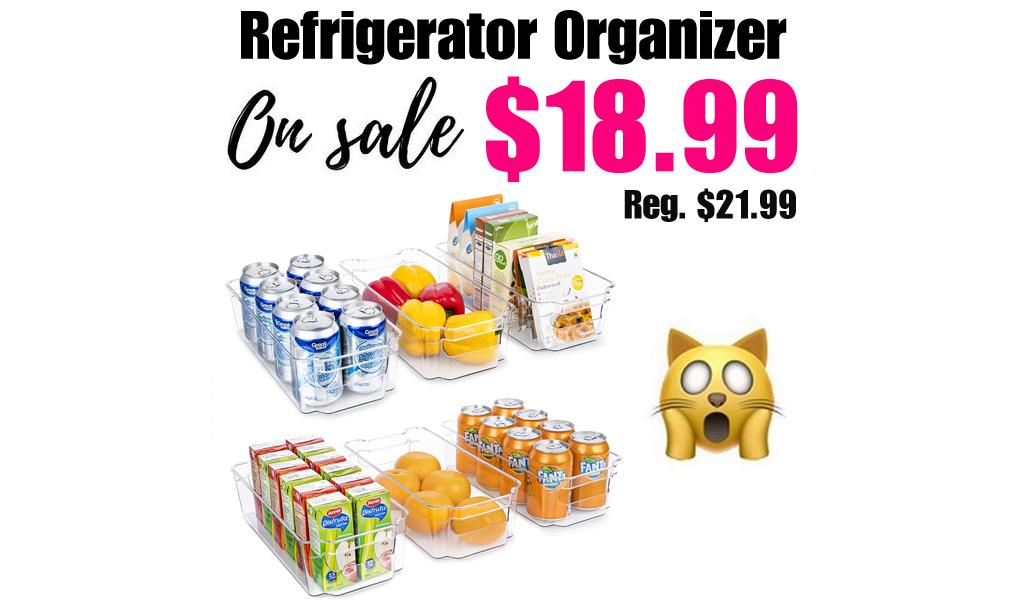 Refrigerator Organizer Bins - 6 Pcs Only $18.99 Shipped on Amazon (Regularly $21.99)
