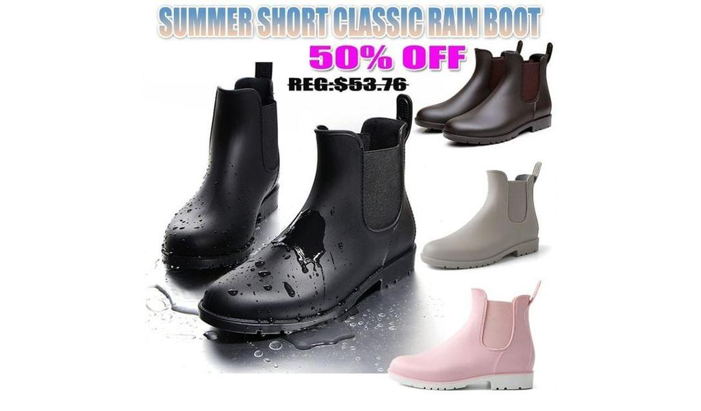 Unisex Summer Short Classic Rain Waterproof Boots +Free Shipping!