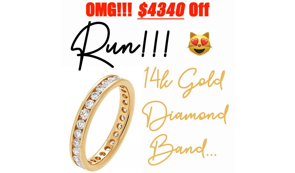 14k Gold 1 Carat T.W. Diamond Eternity Band Only $1860 on Kohl's.com (Regularly $6200)