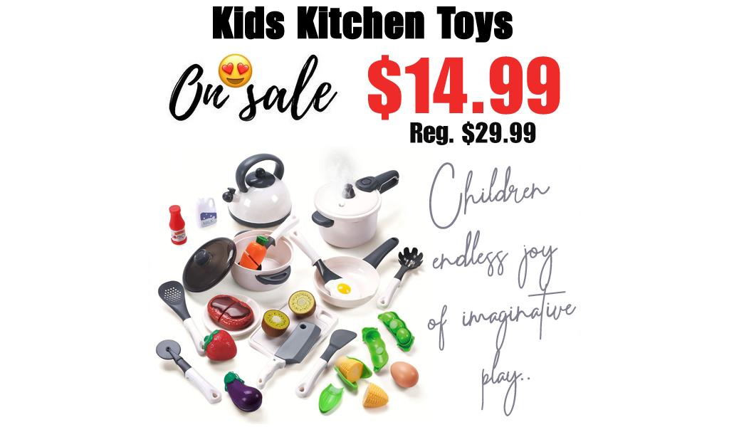Kids Kitchen Toys Only $14.99 Shipped on Amazon (Regularly $29.99)