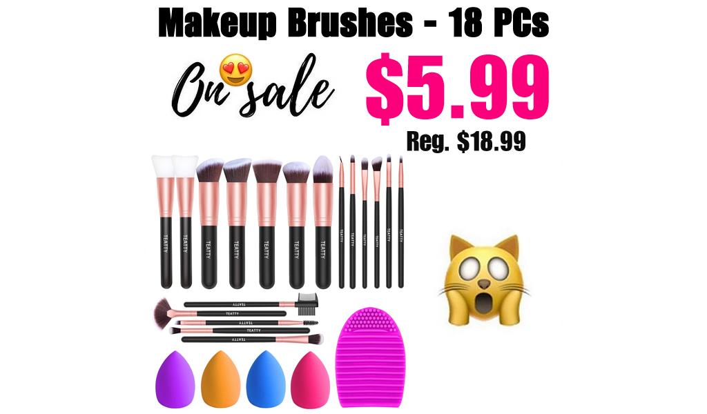 Makeup Brushes - 18 PCs Only $5.99 Shipped on Amazon (Regularly $18.99)
