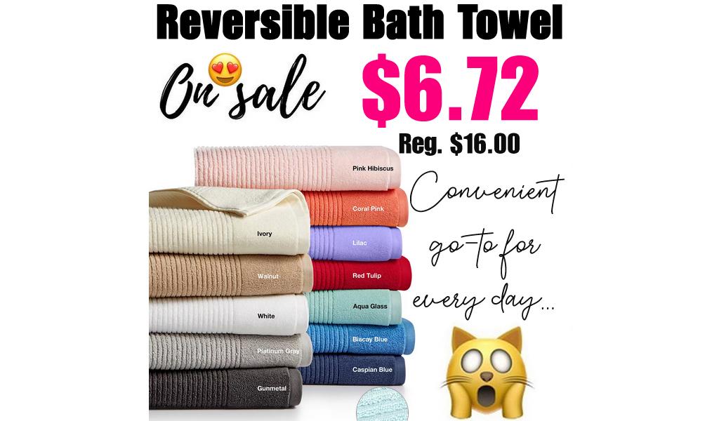 Reversible Bath Towel Only $6.72 on Macys.com (Regularly $16.00)