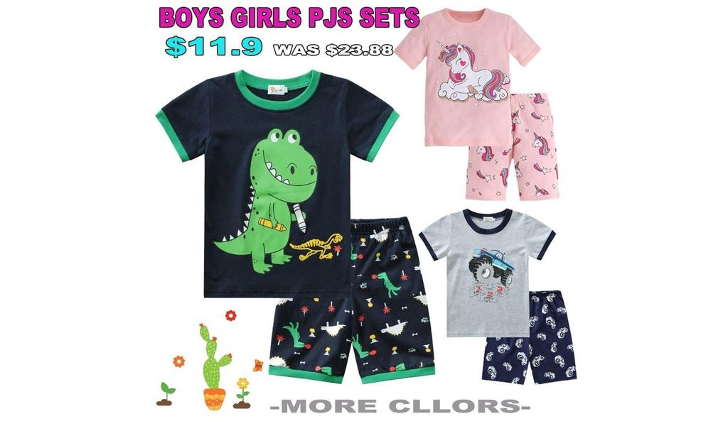 Toddler Boys Girls Comfortable Cotton Pajamas Sets +Free Shipping!
