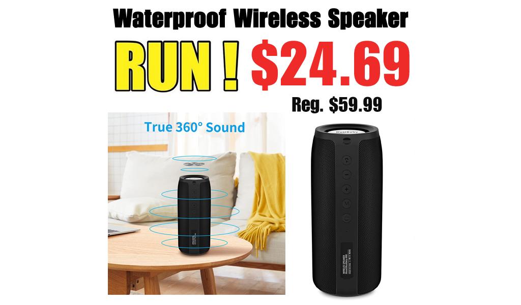 Waterproof Wireless Speaker Only $24.69 Shipped on Amazon (Regularly $59.99)