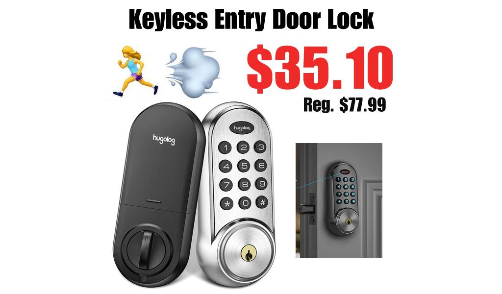Keyless Entry Door Lock Only $35.10 Shipped on Amazon (Regularly $77.99)