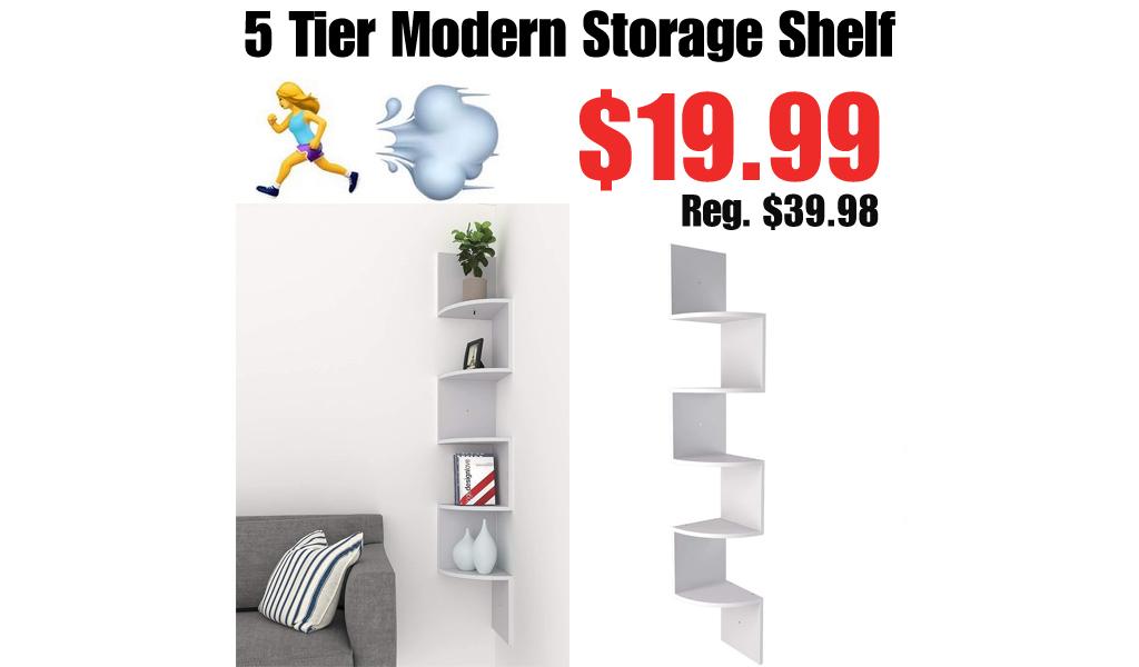5 Tier Modern Storage Shelf Only $19.99 Shipped on Amazon (Regularly $39.98)