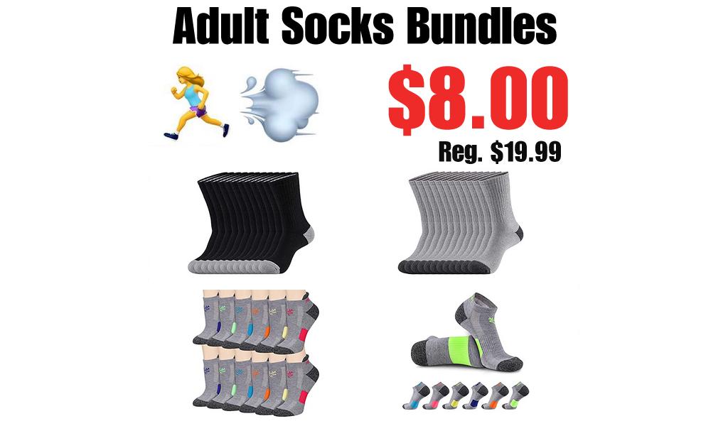 Adult Socks Bundles Only $8.00 Shipped on Amazon (Regularly $19.99)