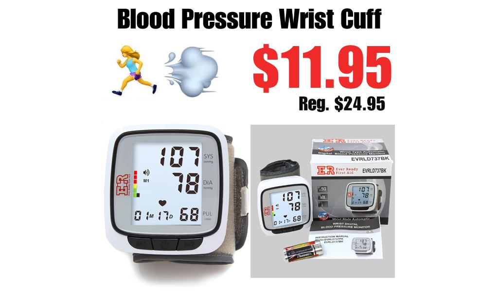 Blood Pressure Wrist Cuff Only $11.95 Shipped on Amazon (Regularly $24.95)