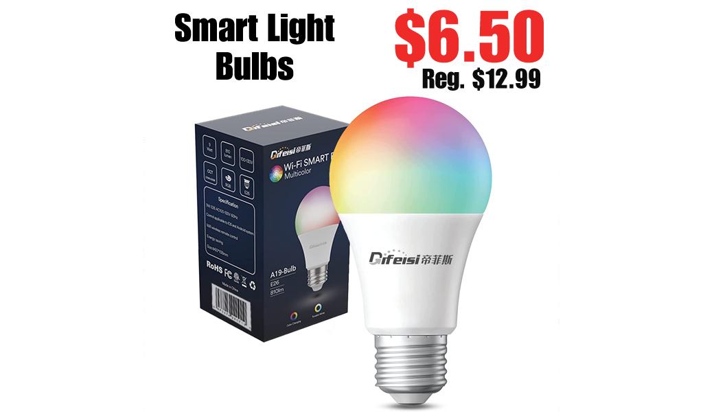 Smart Light Bulbs Only $6.50 Shipped on Amazon (Regularly $12.99)