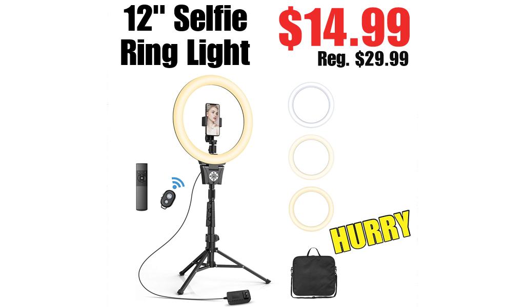 "12"" Selfie Ring Light Only $14.99 on Amazon (Regularly $29.99)"