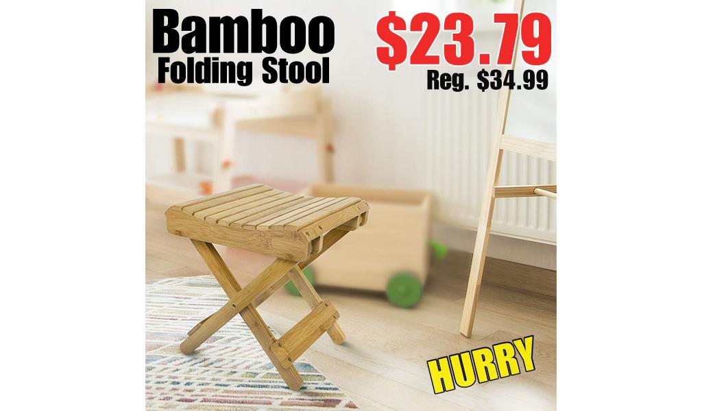 Bamboo Folding Stool Only $23.79 Shipped on Zulily (Regularly $34.99)