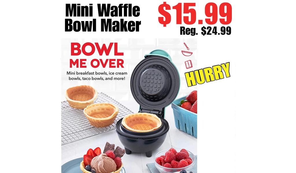 Mini Waffle Bowl Maker Only $15.99 on Amazon (Regularly $24.99)