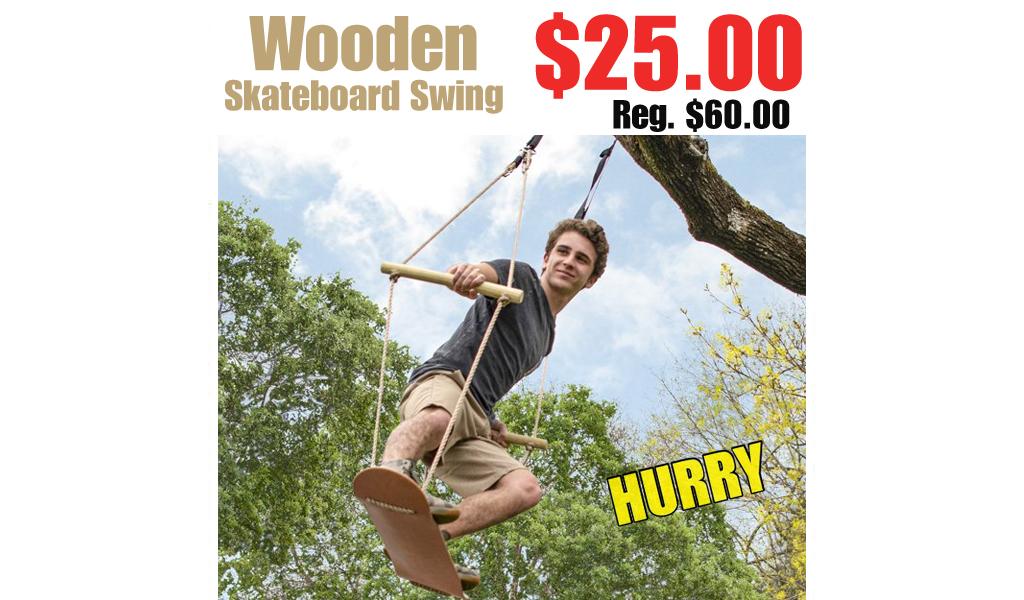 Wooden Skateboard Swing Only $25 on Walmart.com (Regularly $60)